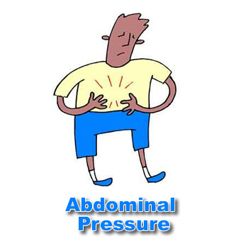 Right Side Abdominal Pressure When Sitting
