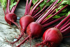 bright red beets