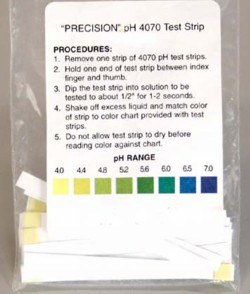 pH balance health test strip papers