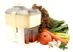 vegetables and juicer